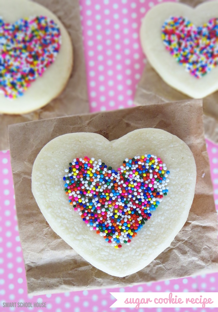 Easy Sugar Cookie Recipe For Valentines Day With Sprinkle Hearts