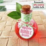 Homemade Apple Scented Bubble Bath