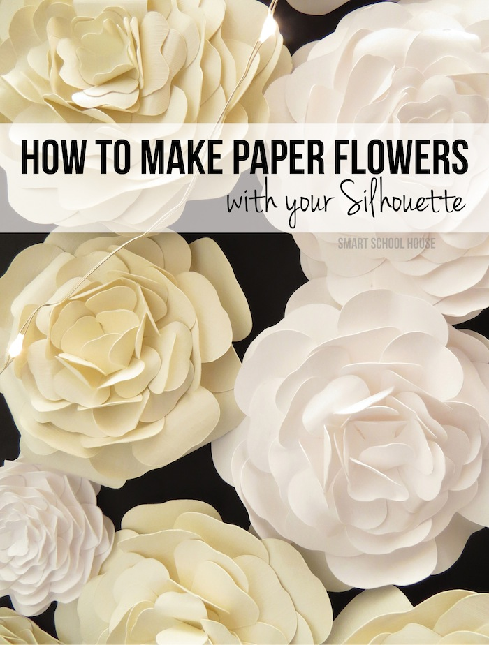 How to make paper flowers how to make paper flowers with your silhouette cameo mightylinksfo