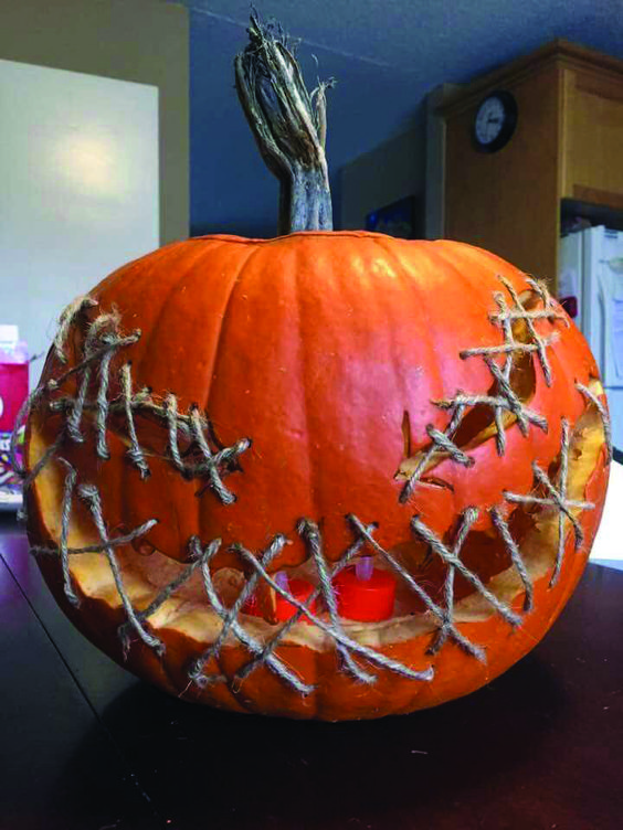 Sew A Pumpkin with String