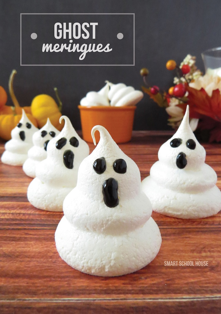 Ghost Meringues - They are so easy to make (honest!). You only need a few supplies, some of which you most likely already have on hand. These ghost meringues are bound to impress at any Halloween party or celebration.