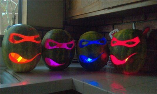 Ninja Turtle Pumpkins