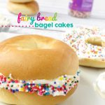 Fairy Bread Bagel Cakes