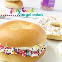 Fairy Bread Bagel Cakes