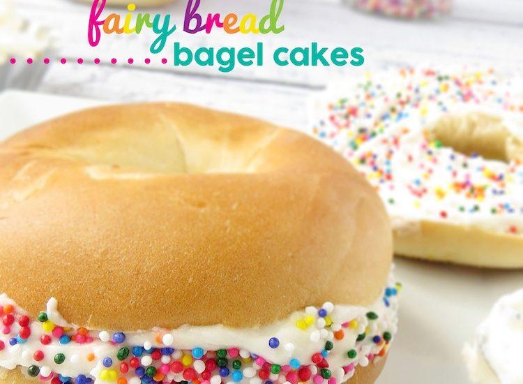 Fairy Bread Bagel ..