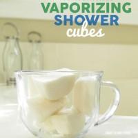 Homemade Vaporizing Shower Cubes
