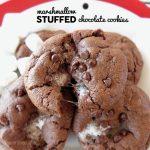 Marshmallow Stuffed Choco Cookies