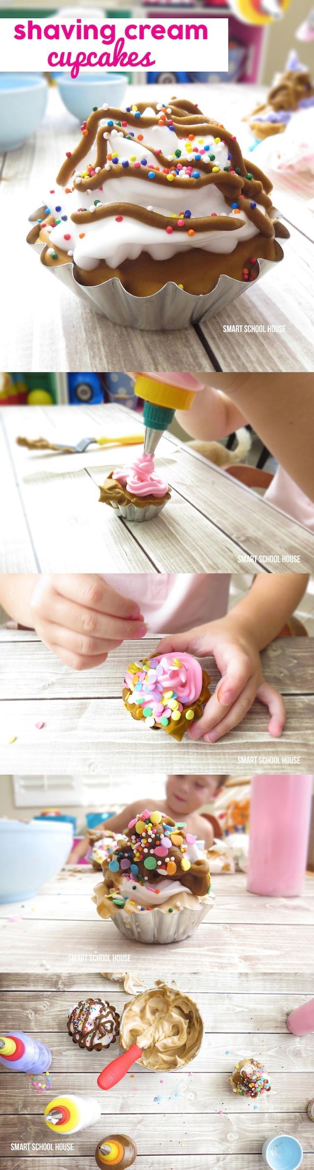 Shaving Cream Cupcakes