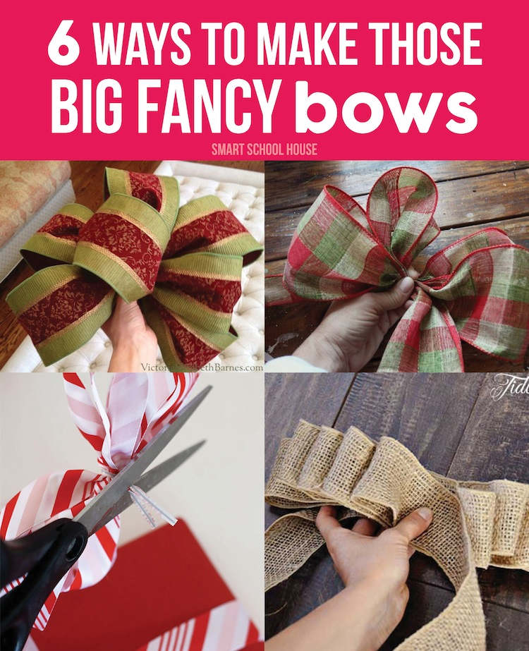 How To Make Christmas Bows For Wreaths Images
