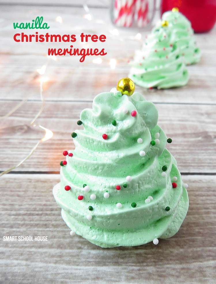 Christmas tree meringues christmas meringue cookies forumfinder Images