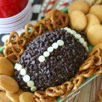 Chocolate Chip Cheesecake Football