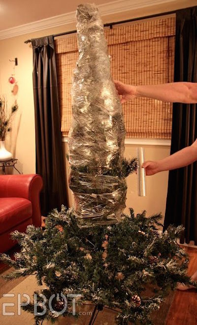 How To Shrink-Wrap Your Christmas Tree by EPBot