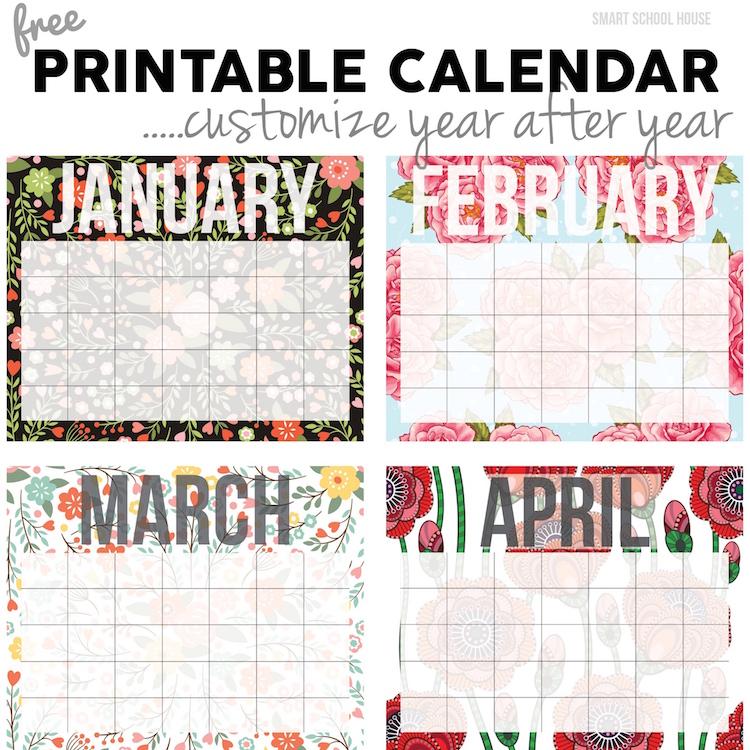 Diy School Calendar : Free calendar