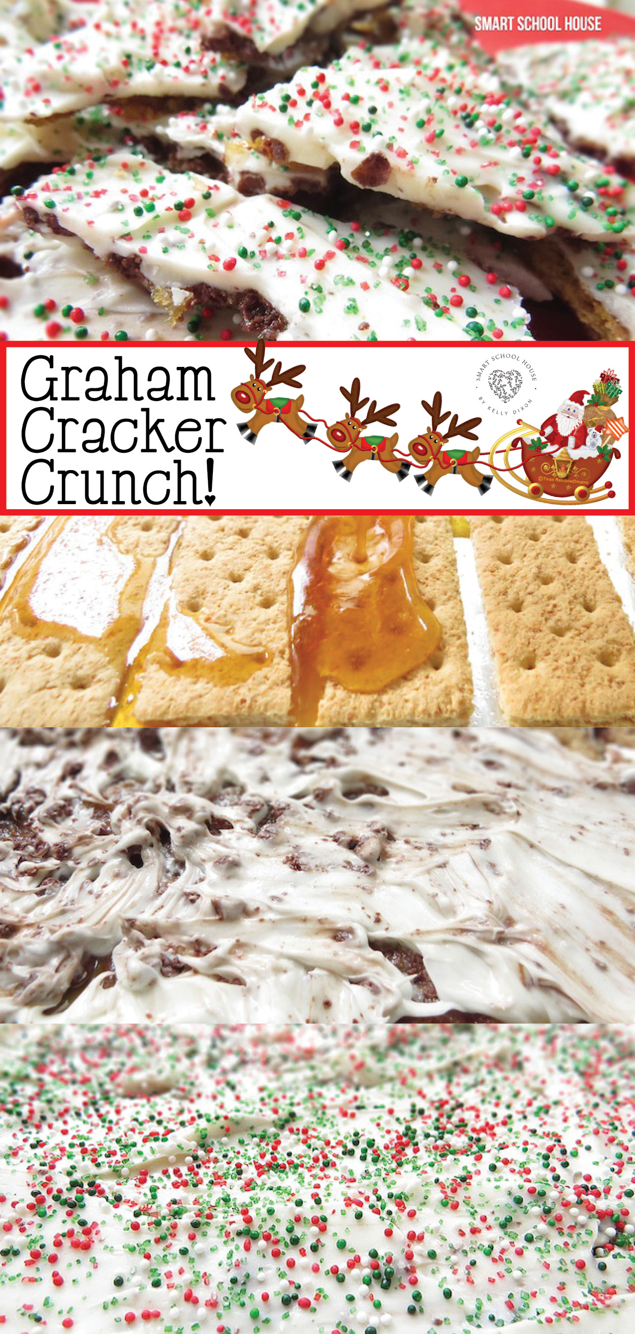 How to make Graham Cracker Christmas Crunch. An easy DIY Christmas dessert idea