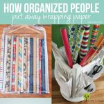 How Organized People Put Away Wrapping Paper