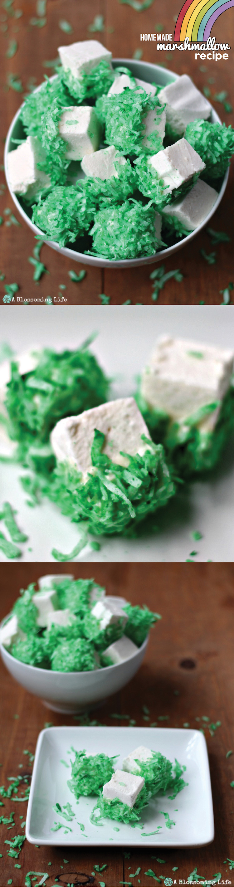 How to make Homemade Marshmallows for St Patrick's Day