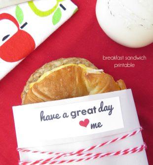 Breakfast Sandwich Printable