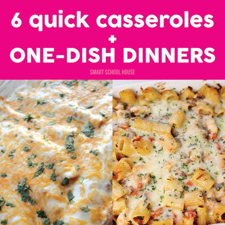 30+ Quick One Dish Dinners Quick One Dish Dinners, those words together sound so good they might as well be a swear word. One dish means that many dishes to do after the meal is cooked. ONE. Yep, simple is a simple does, and that works for this quirky gal.