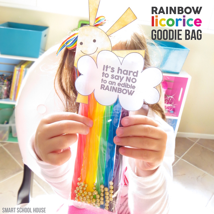 Rainbow Licorice Goodie Bag with free printable