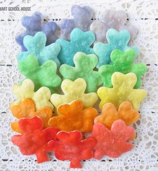 Homemade Rainbow Shamrock Chips