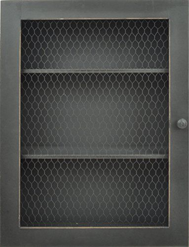 Gray jelly cabinet inspired wall shelving