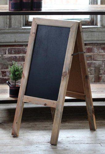 Two sided reclaimed wood chalkboard