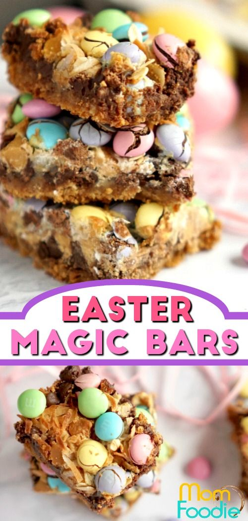 Easter Magic Cookie Bars - TheseEaster Magic Cookie Bars are a perfect easy Easter dessert to make for the holiday.