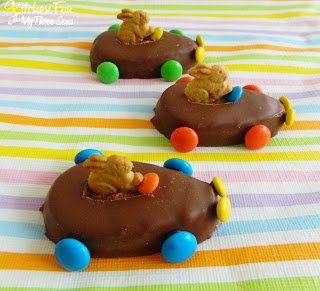 this fun & easy Easter treat takes just minutes to make and your kids will love these cute Reese's Race Cars for Easter!