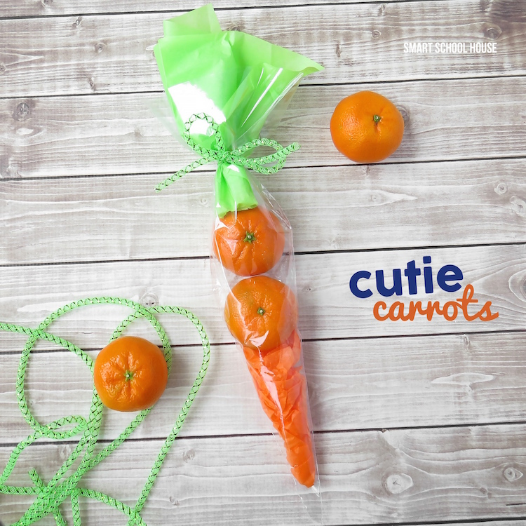 Cutie Carrots. These are such a wonderful candy free alternative for gift giving this spring and Easter!