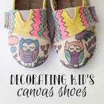DIY Colored Canvas Shoes