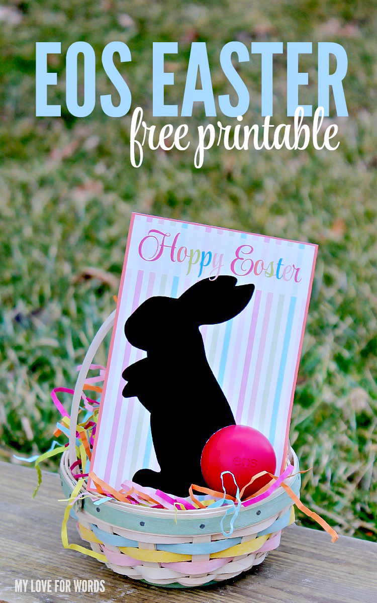 EOS Easter gift idea with a free printable