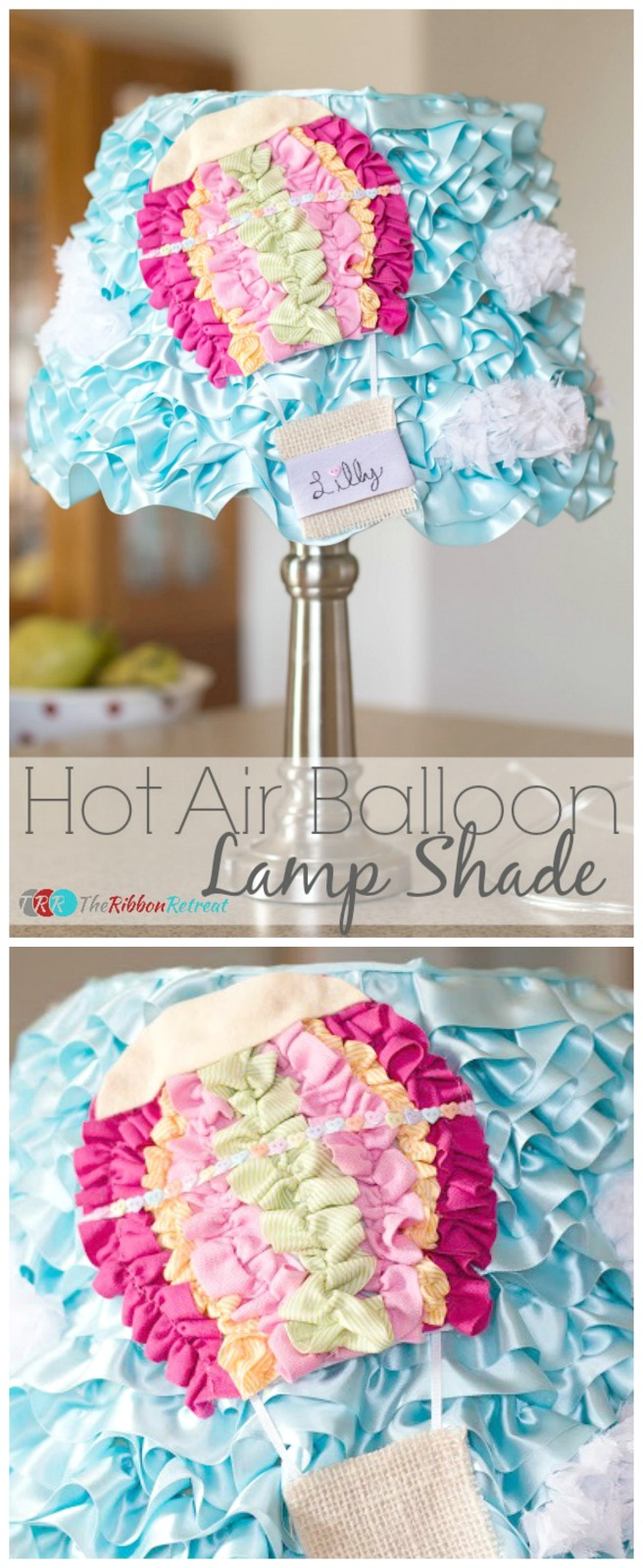 Easy DIY Hot Air Balloon Lamp Shade tutorial