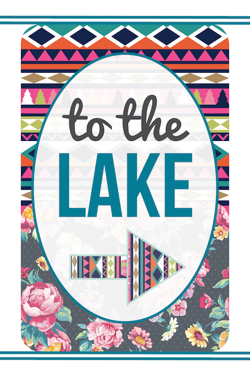 To the Lake! Free destination printable (more to choose from!)