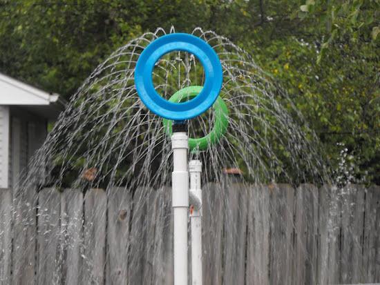 DIY sprinkler that will provide kids with hours of splash time PLUS 9 other super smart DIY Splash Park Hacks