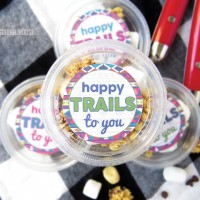 Happy Trails Trail Mix Printable Containers