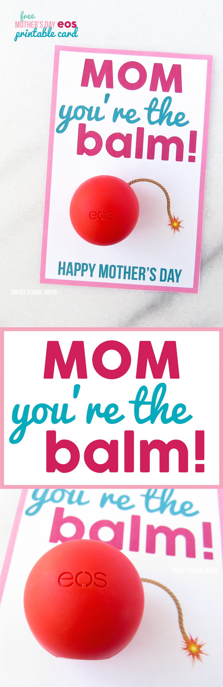 image regarding You're the Balm Free Printable referred to as Mother Youre the Balm - A Do-it-yourself Moms Working day Card