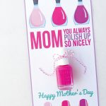Nail Polish Mother's Day Card