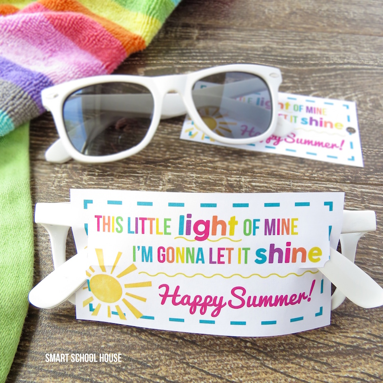 This Little Light of Mine Sunglasses printable and summer DIY gift idea