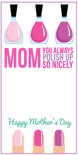 You always polish up so nicely Mother's Day printable by Smart School House