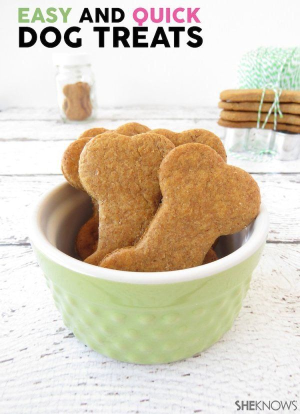 An easy recipe for homemade dog treats.