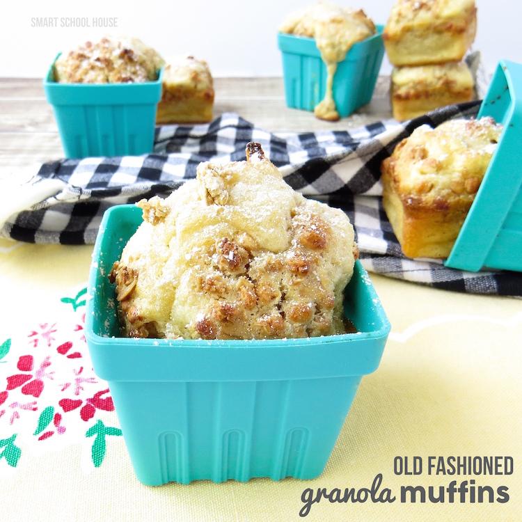 Old Fashioned Granola Muffin recipe- just like grandma makes!