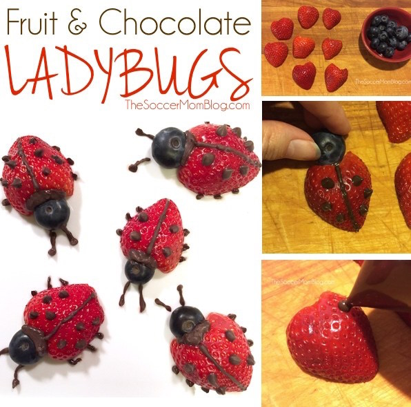 How to make strawberry ladybugs. So cute!