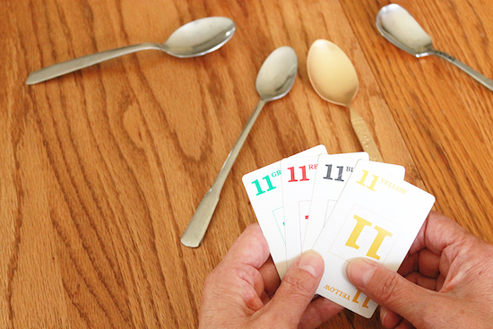 Teach your kids how to play Spoons