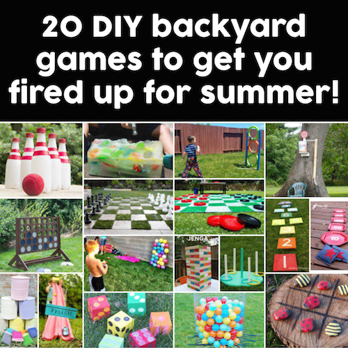 Looking for some incredibly creative DIY backyard games for the summer? Here's a list that has a little something for everyone! I love the jumbo Connect Four game. saving this!