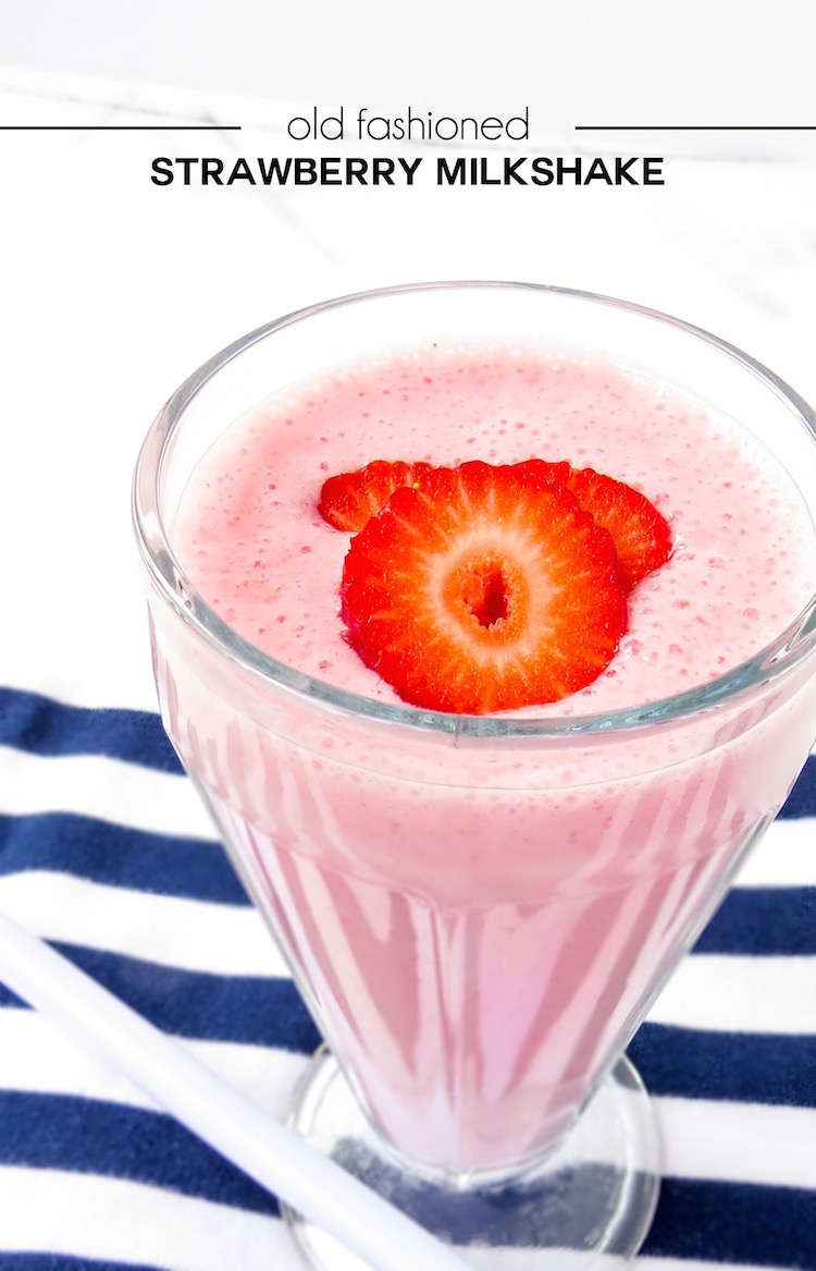 Old fashioned strawberry milkshake recipe.