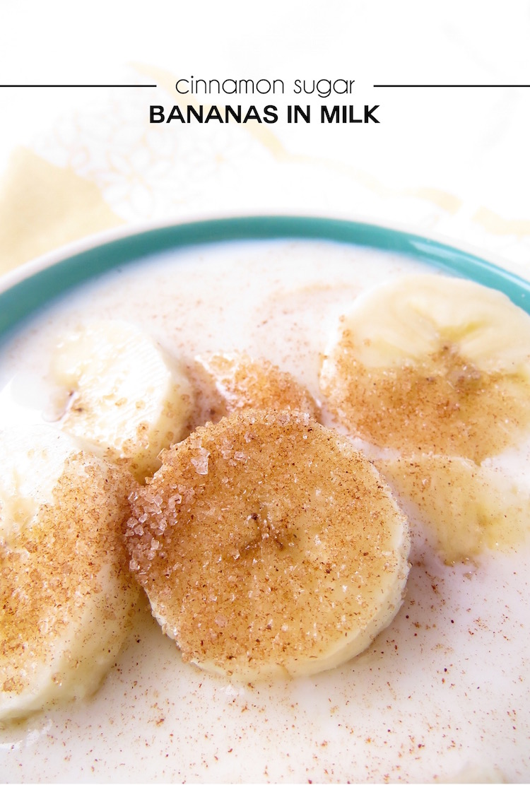 Bananas in Milk! A classic kid friendly snack that grandma used to make.
