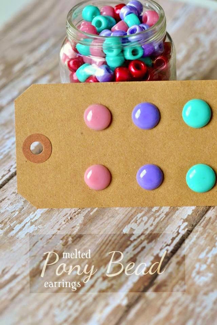 Melted bead earrings for How to make beads craft