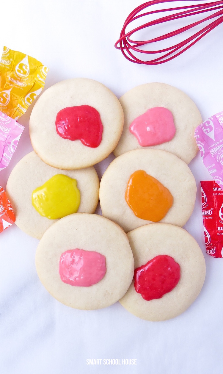 How to make Starburst Sugar Cookies! An easy DIY cookie recipe just for fun!