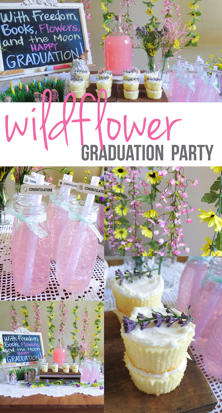 Wildflower Graduation Party ideas! Perfect for the graduate that is wild-at-heart