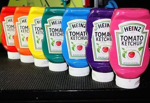 Keep paint in squeeze ketchup bottles! It helps kids get more paint without making a massive mess at home or in the classroom. Plus, you can buy paint in bulk and save money by reusing empty ketchup bottles! Source unknown.